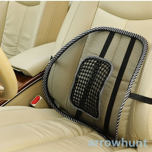 Comfortable Pillow Car Styling Accessories Mesh Back Lumbar Support Massage Cushions With Massage Beads For Car Seat Chairs(China (Mainland))