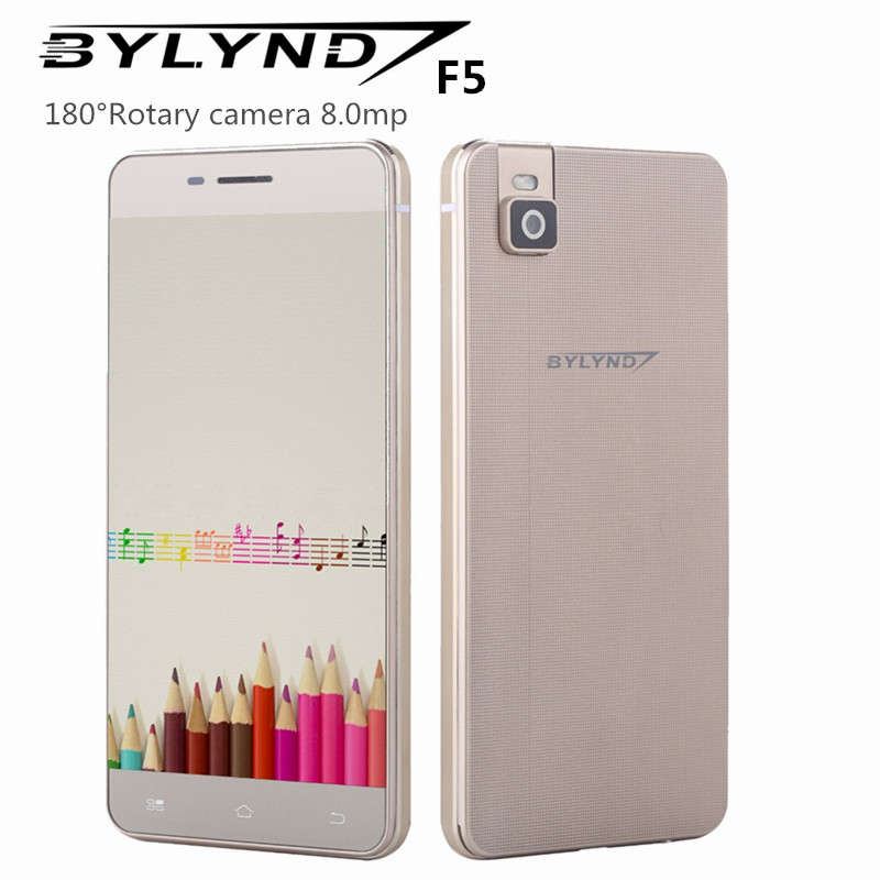 "Bylynd F5 smartphones mtk6752 cell android 5.1 octa core 2G ram rotary camera 8.0mp 5.0"" 4G LTE FDD unlocked China mobile phones(China (Mainland))"