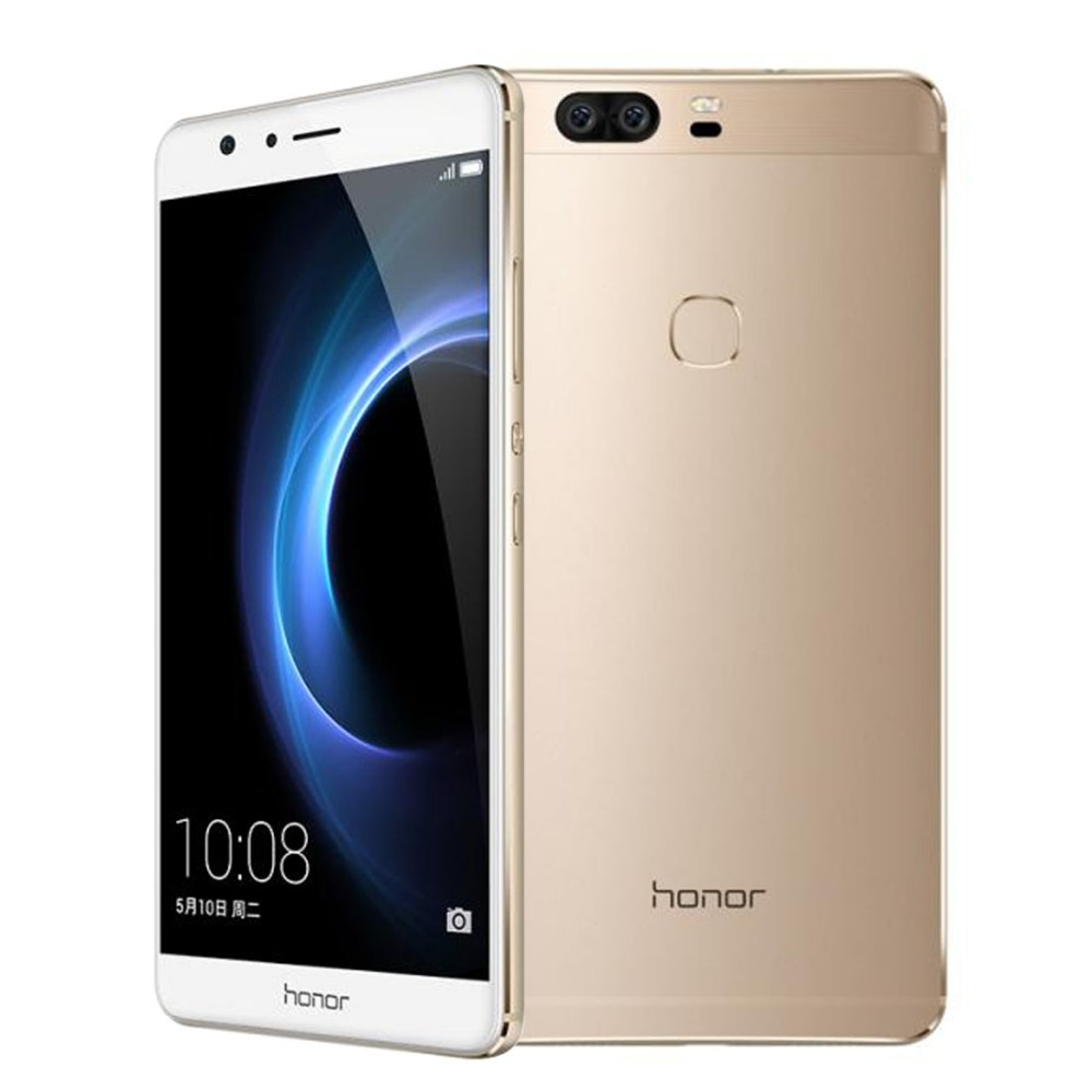 Original Huawei Honor V8 Cell Phone 4GB RAM 32GB ROM Kirin 950 Octa Core 5.7″ Screen EMUI 4.1 OS 2*12MP Camera 4G LTE Smartphone