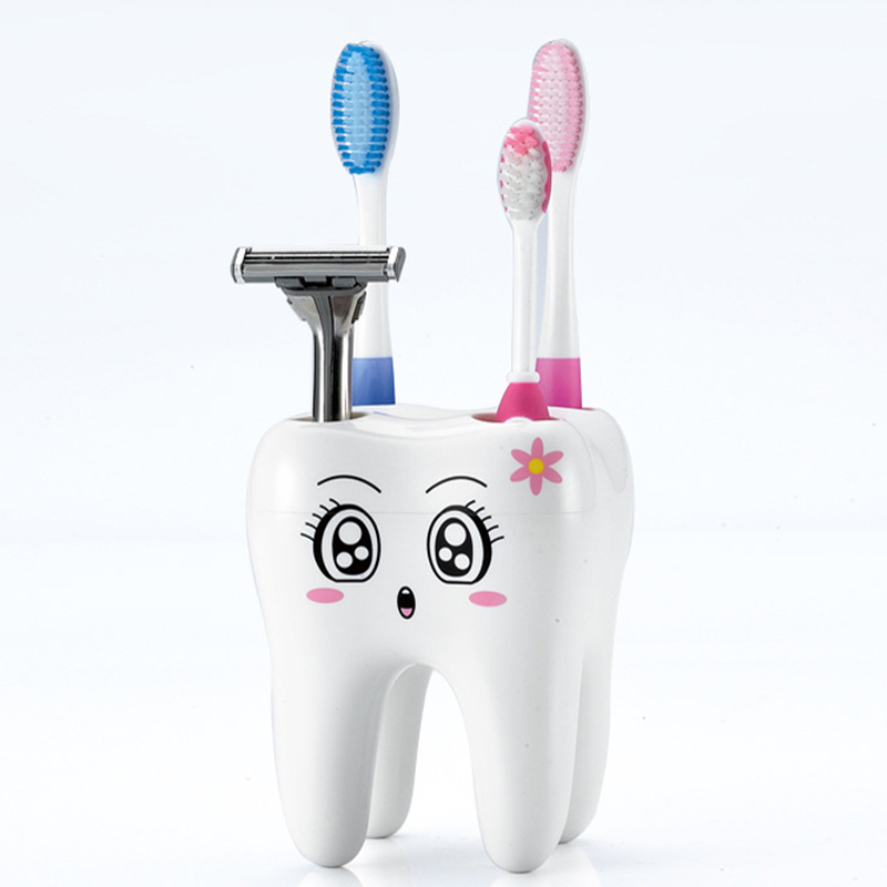 Cartoon toothbrush holder teeth style 4 hole stand tooth for G style bathroom accessories