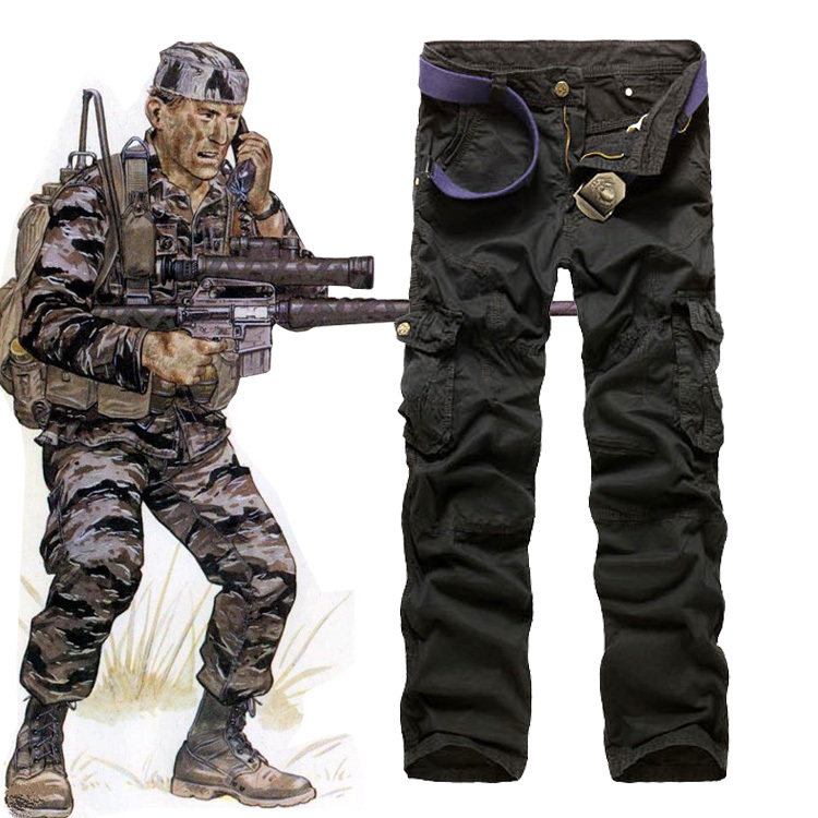 Fashion men military camouflage pants overalls trousers free shipping 4 clors Plus Size 29-38 A8315(China (Mainland))