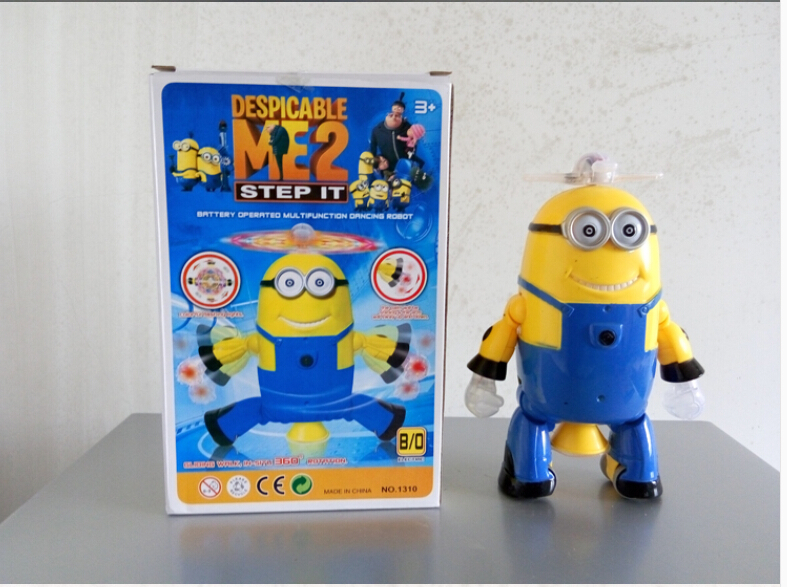Electric Despicable Me Toys Light + Music Dancing Robot Despicable Me 2 Figures Children Gift Baby Toys High Quality(China (Mainland))