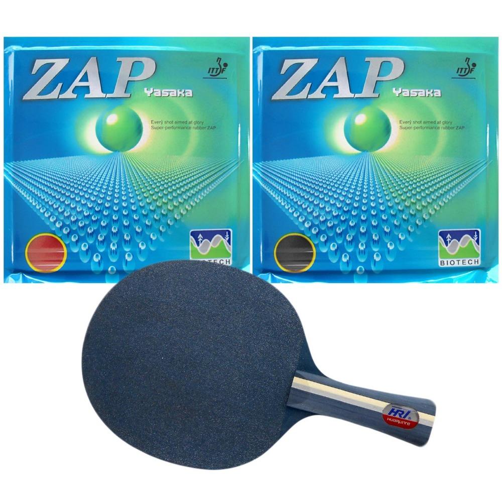 Pro Table Tennis (PingPong) Combo Racket: HRT Blue Crystal with 2x Yasaka ZAP (40mm) BIOTECH (H40-44)<br><br>Aliexpress