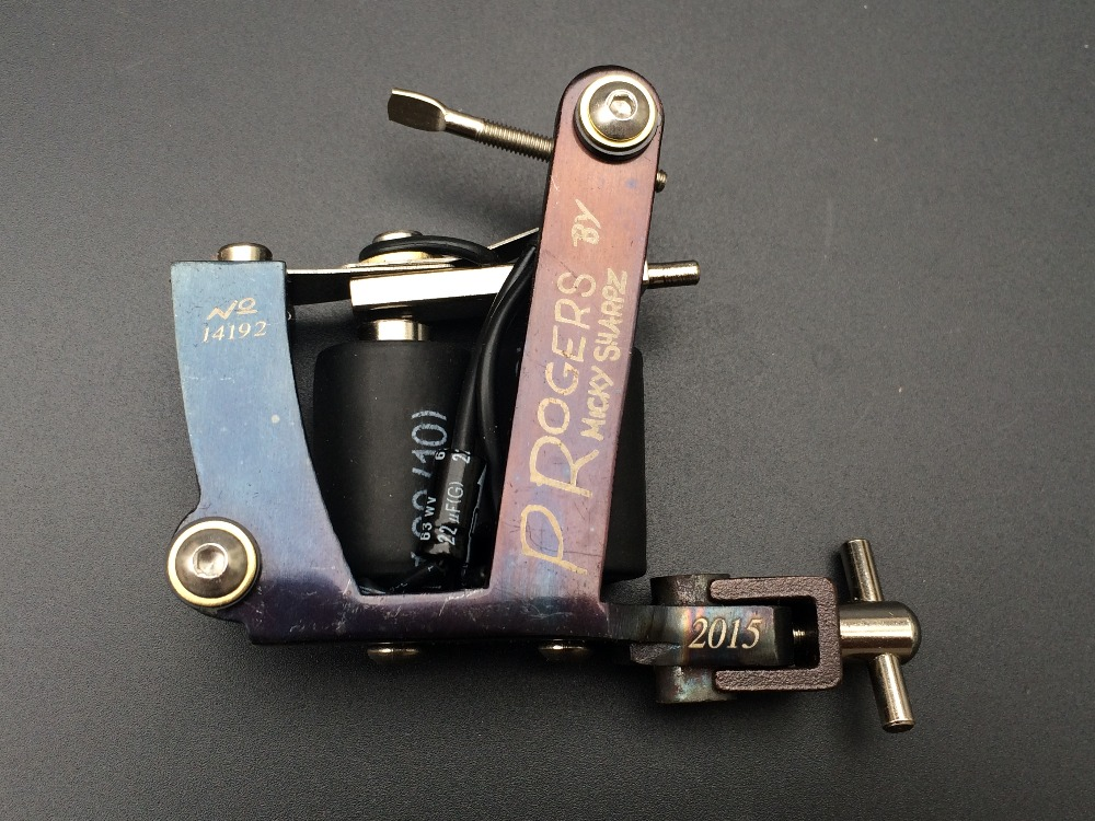 Professional Chrome acier Rotary Tattoo Machine Gun aluminium moteur Shader / revêtement(China (Mainland))
