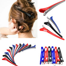 12Pcs Newest Hairdressing Aluminum Plastic Clips Salon Barber Section Hair Clip hairband headband hair accessories(China (Mainland))