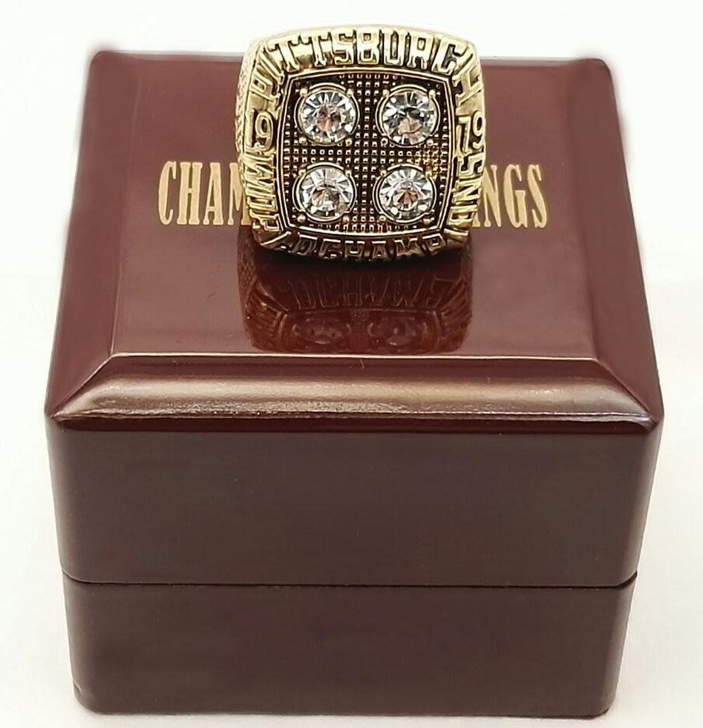Factory direct sale Good Quality Factory price 1979 Super Bowl Pittsburgh Steelers championship ring with wood boxes(China (Mainland))