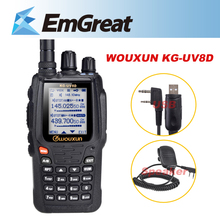 WOUXUN KG-UV8D UV Dual Band 999 Channels Multifunctional Two Way Radio Walkie Talkie+Speaker Mic+USB Program Cable P0015651