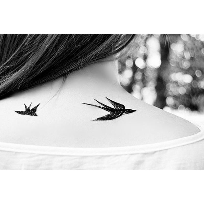 Swallow Bird Temporary Tattoo Woman Waterproof Body Tattoo Stickers Removable Body Art Painting Fake Transferable Tattoo Sleeve(China (Mainland))