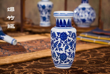 porcelain Decoration  blue and white porcelain flower vase Classical Chinese arts and crafts creative gift  free shipping !!!(China (Mainland))