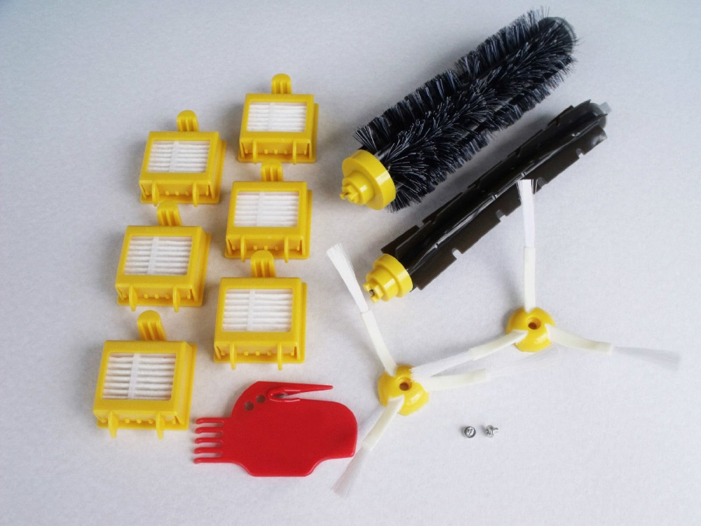 2 screw+6 HEPA Filter +2 Side Brush +1 set Bristle Brush kit for iRobot Roomba 700 Series Vacuum Cleaning Robots 760 770 780 790(China (Mainland))