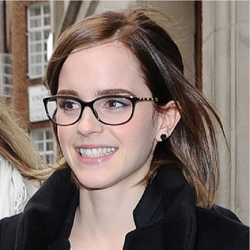 Glasses Frames Styles For Round Faces : 2015 New Fashion Glasses Women Eyeglasses Frame Black Eye ...