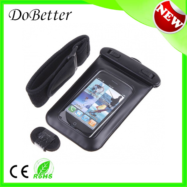 summer sport and swimming pvc waterproof case for cell phone with waterpoof earphones(China (Mainland))