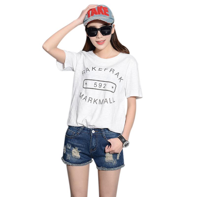 Uwback 2016 new brand summer denim shorts women plus size ripped washed short shorts female jeans holes sexy shorts woman TB1025(China (Mainland))