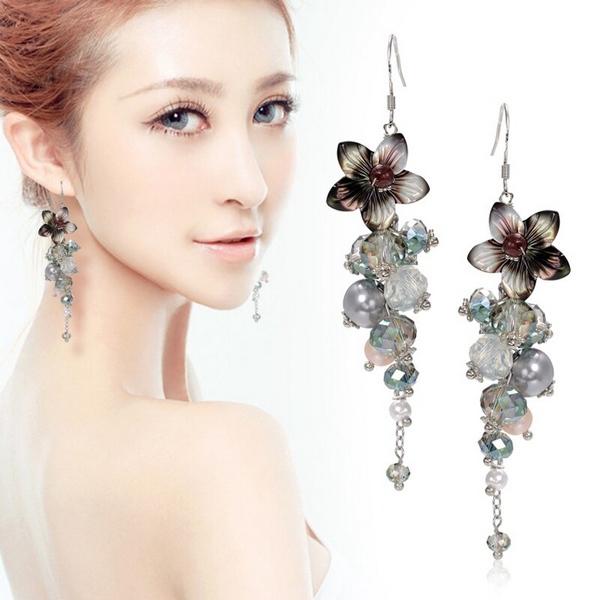 17km jewelry flower earring vintage trendy beads bohemian Trendy womens gifts 2015