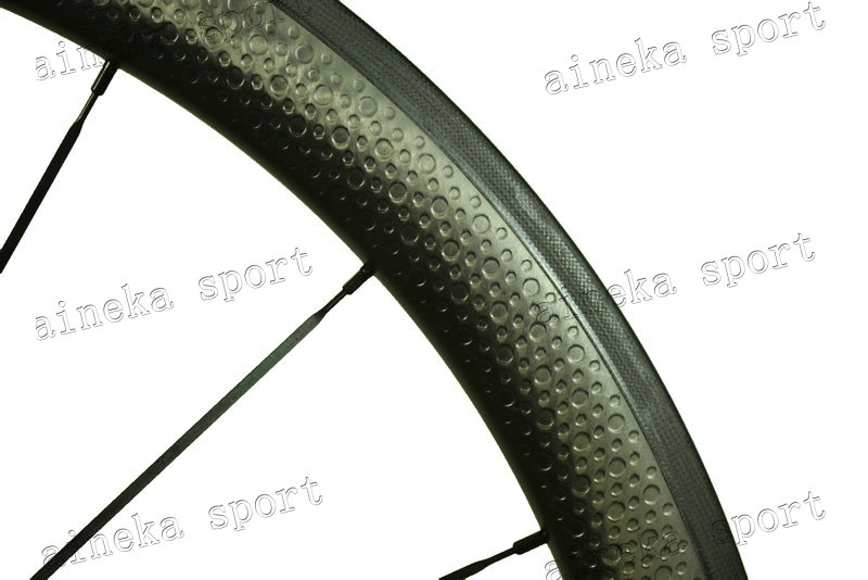 45mm dimple surface/golfball surface carbon wheels with high temperature brake surface, 25mm width, Free shipping(China (Mainland))