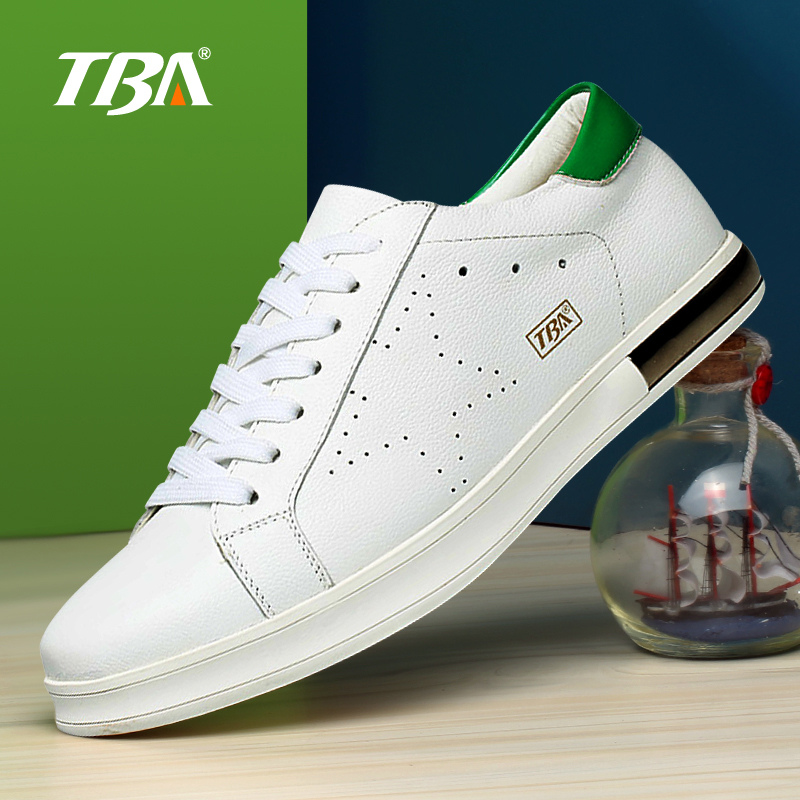 2017 TBA men's trend small white men's Korean tide flat leather running shoes(China (Mainland))