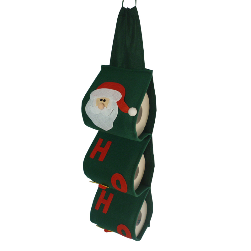 1 Pcs Santa Claus Toilet Paper Holders, Toilet Towel Reel Roll Paper Cover Hanging Holder Bathroom Christmas Decoration(China (Mainland))