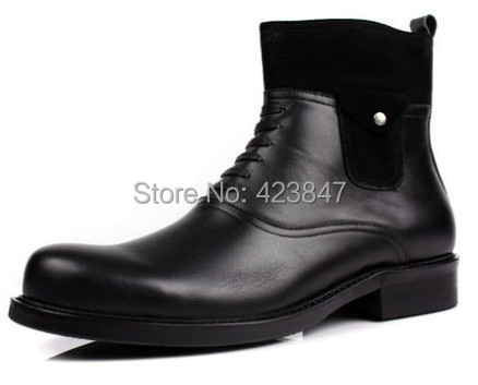 Free shipping 2014 spring and autumn fashion men's shoes new head layer cowhide male cowboy boots personality casual shoes