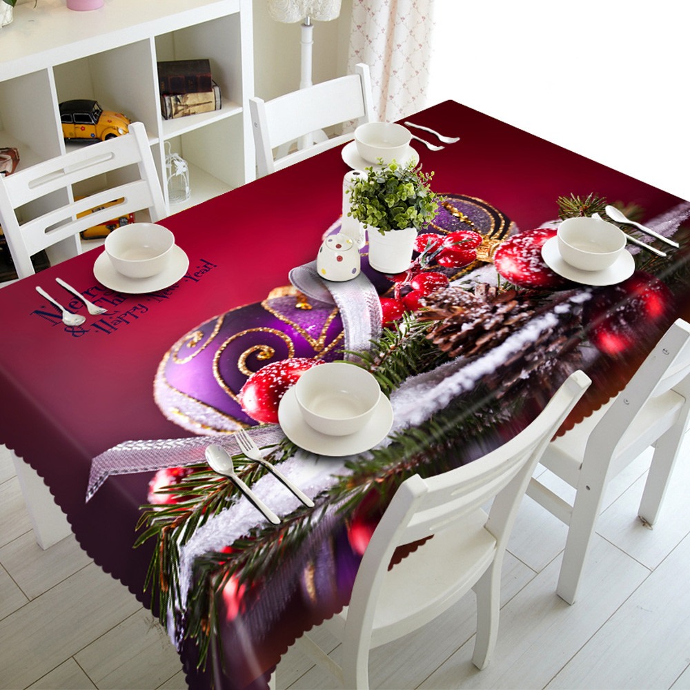 1pc Hot sale Butterfly edge Polyester Multi Functional Christmas Table Cloth for Party Picnic hotel Dining Tablecloths 90*150cm(China (Mainland))