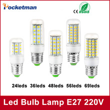 LED Light Bulb E27 E14 220V SMD5730 24LEDs 36LEDs 48LEDs 56LEDs 69LEDs Christmas Chandelier Lamp - Pocketman Technology (China store Co., Ltd.)