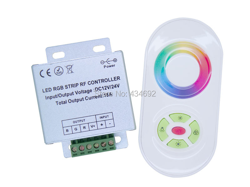 Double Modes RF RGB LED Controller with Press & Touch Remote Control Panel for RGB LED Light Strips(China (Mainland))