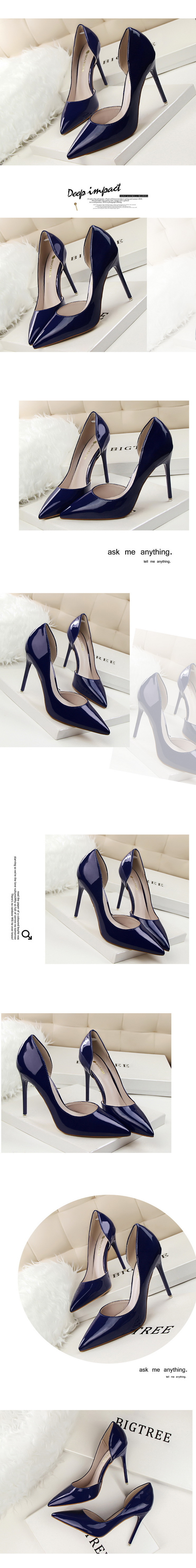Women/'s High Heels d/'Orsay Pumps Patent Leather Pointed Shoes US Size 4~10.5 G01