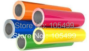 Rolls 50cm x3' Heat Transfer PU Vinyl With Sticky Back 33colors Cutter Press(China (Mainland))