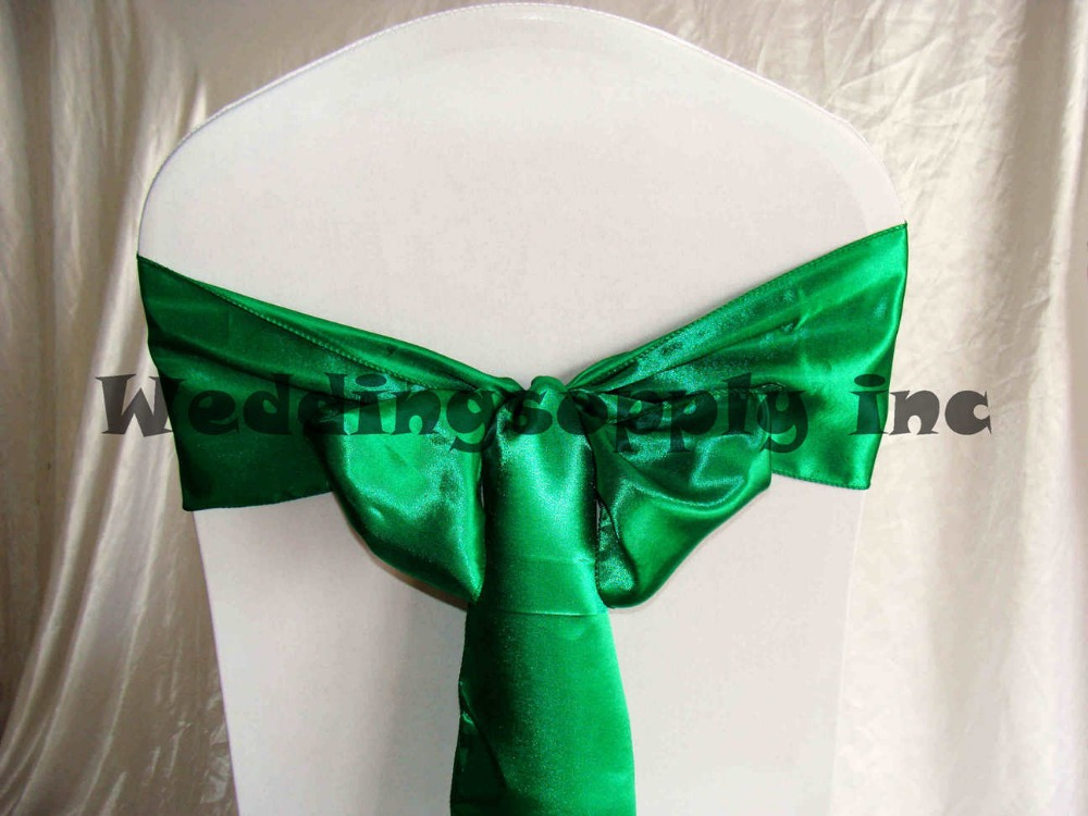 Aliexpress Buy 100 EMERALD Green Satin Chair Cover