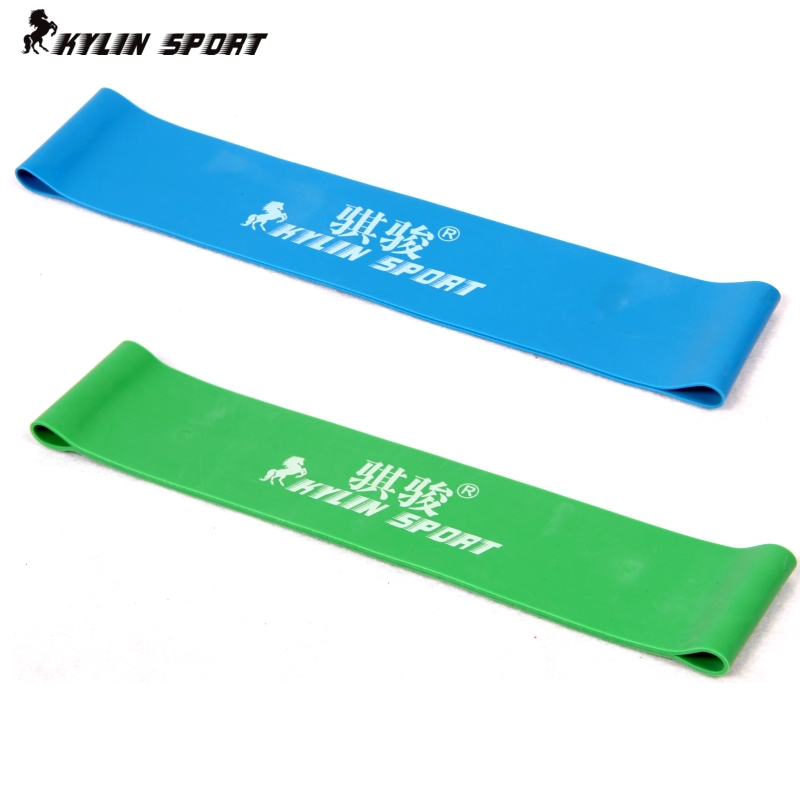 Green and blue combination latex resistance bands workout excercise pilates yoga bands loop wrist ankle elastic belt(China (Mainland))