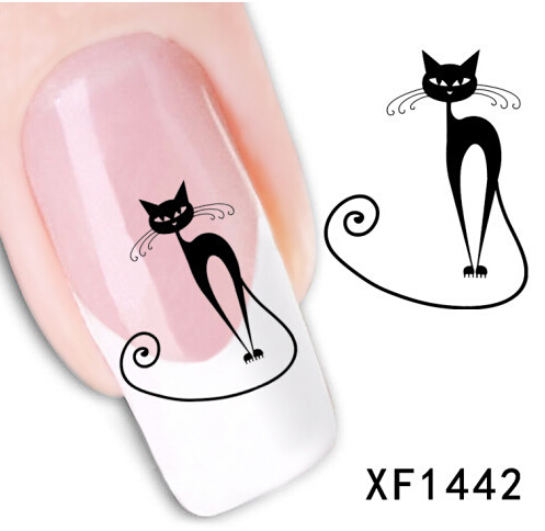 1 piece 1Sheet 3D Design water decals Cat Art Nail Sticker Nail Decal carving decorations for nails tools(China (Mainland))