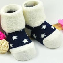 Hot Sale 3Pair Baby Infant Children Sock Star Socks 100% Cotton Suitable 3M-3 Year Newborn Non-Slip Sock Kis Children's Clothing
