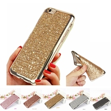 For iPhone 6 case Rhinestone Clear Crystal Bling Glitter Phone case for iPhone 5s SE 6 Plus 6Plus For iPhone 7 Plus Fundas Cover(China (Mainland))