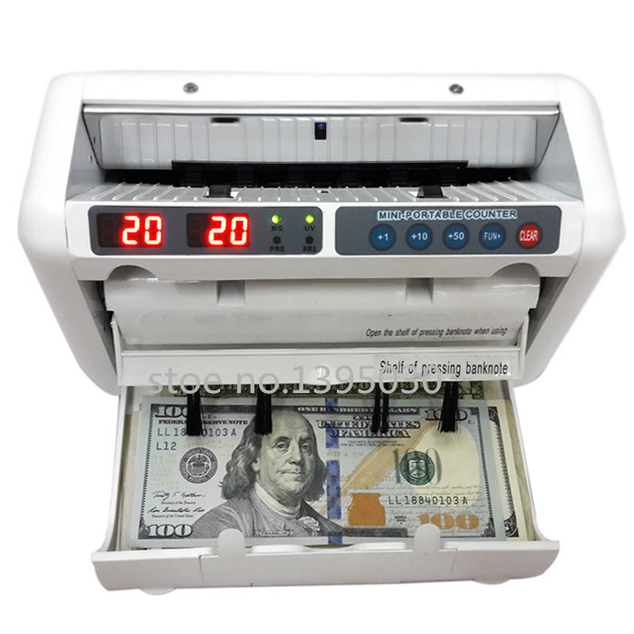 1pc 110V / 220V Money Counter Suitable for EURO US DOLLAR etc. Multi-Currency Compatible Bill Counter Cash Counting Machine(China (Mainland))