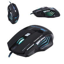 Brand Top X7 Real 3200DPI 7 Button Gaming Mouse USB Wire PC Mice LED Optical Mouse for Gamer Game Free Shipping
