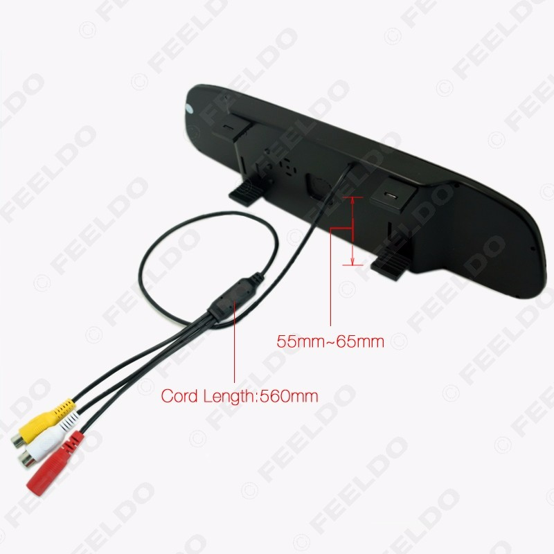 "Car 4.3"" Rearview Mirror Monitor 8-Sensor Radar 2x 18.5mm CCD Camera Dual Rearview Video Parking Sensor System #FD-1978"