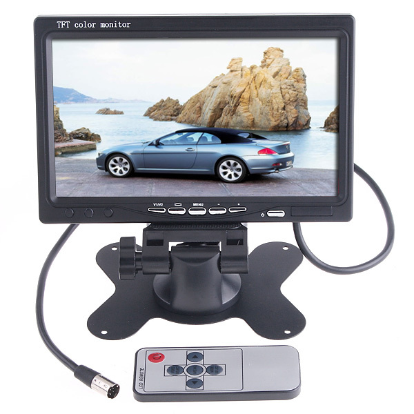 """Universal 7"""" inch HD TFT LCD Car Monitor Camera Color for Rear View Mirrior 2 AV input Reverse Backup Parking VCR DVD Player(China (Mainland))"""