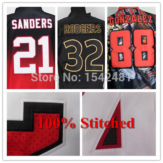 Deion Sanders Tony Gonzalez Jersey 2014 Mens American Football Jersey Atlanta elite Cheap Authentic Sports Stitched Big Size 60(China (Mainland))