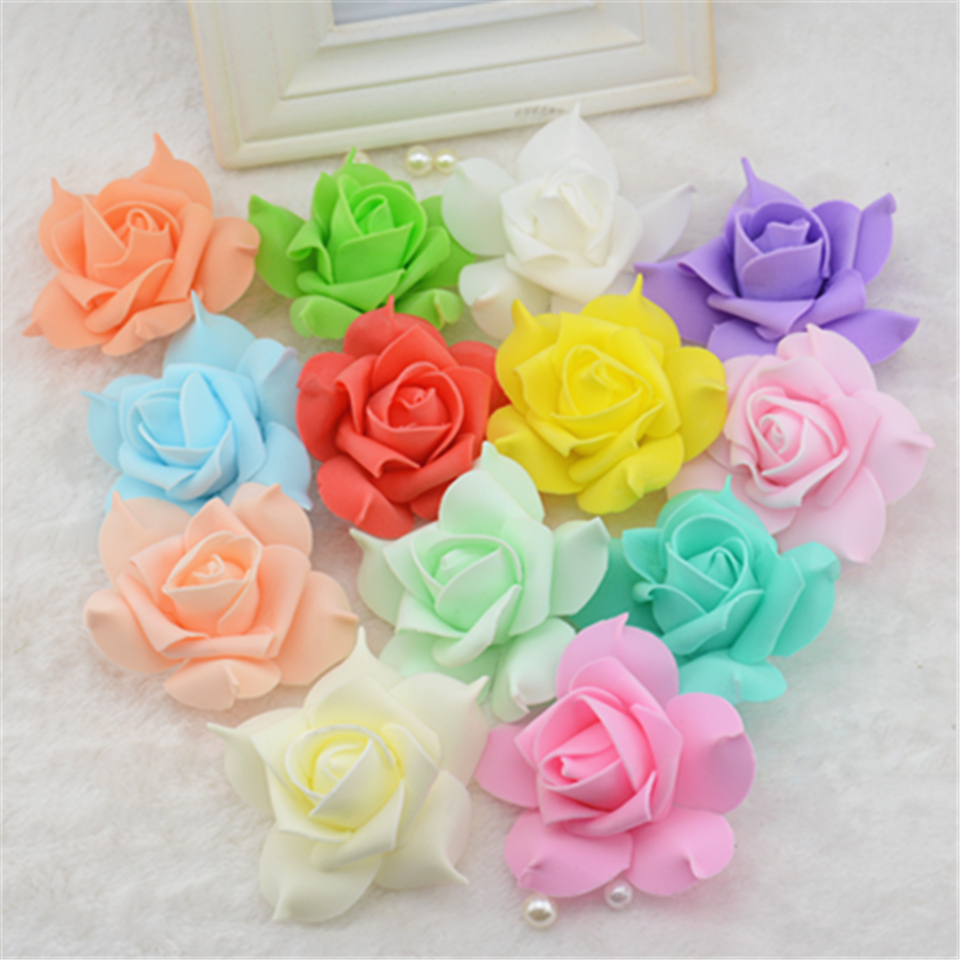 10pcs Foam Artificial flowers Pentagon Rose Hydrangea Flowers For Wedding Car Decoration Wreath Decorative Scrapbooking Flowers(China (Mainland))