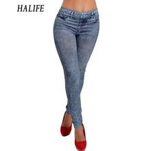 Buy HALIFE Workout Leggings Fitness Women Stretch Skinny Slim Jeggings Faux Denim Jeans Leggins Legging Pants Trousers 5 for $6.08 in AliExpress store