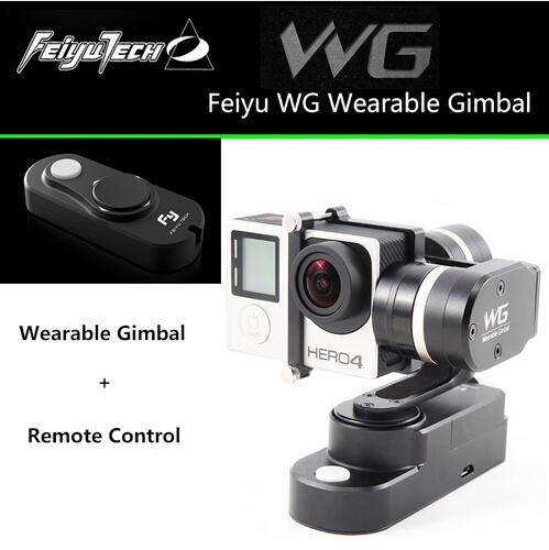 In Stock Feiyu TECH FY WG 3-axis Wearable Gimbal Stabilizer+ Remote Control for Gopro Hero 3 3+ 4 LCD Touch BacPac Xiaoyi AEE<br><br>Aliexpress