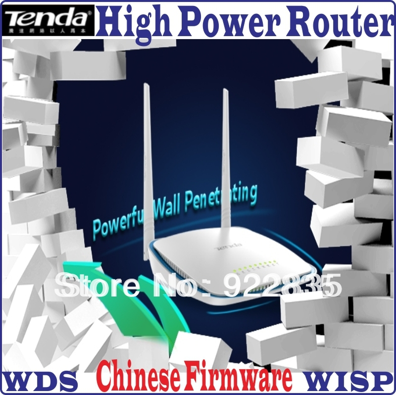 [Chinese Firmware] Tenda FH305 300Mbps Wireless 4 Ports Router 300M Wifi Repeater, WiFi On/OFF Button, WDS WISP Range Expander(China (Mainland))