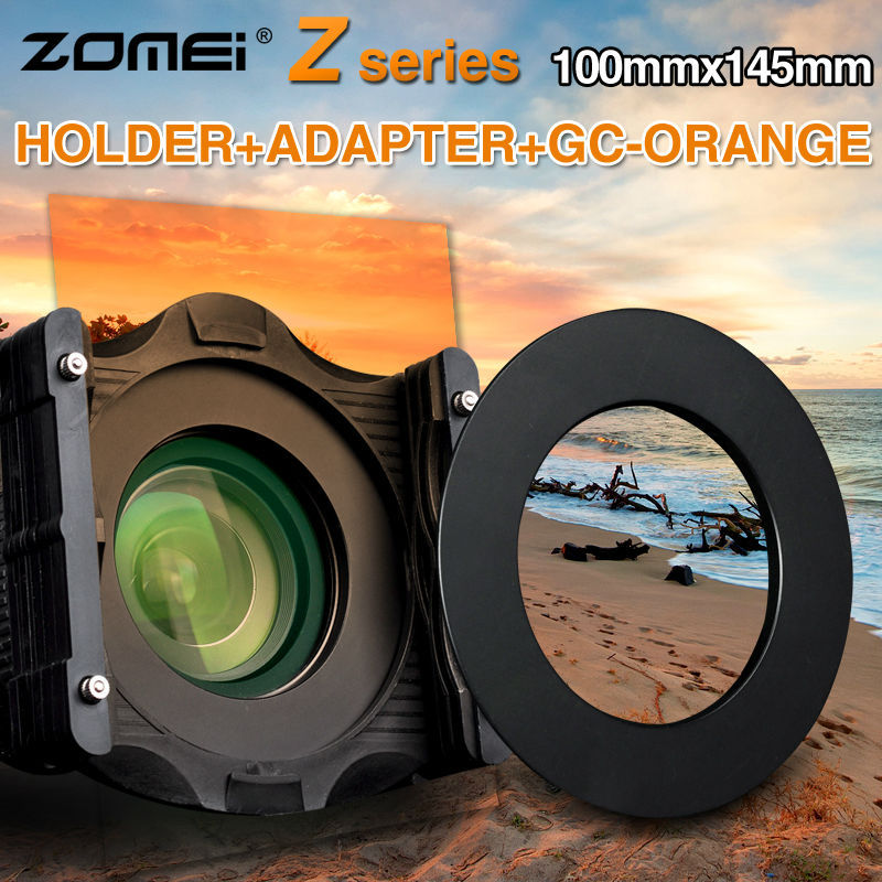 ZOMEi 3 in1 Square Z-PRO Series Filter Holder Support + Adapter Ring 77mm+Gradual orange 150*100(China (Mainland))