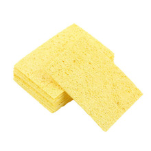 10pcs High Temperature Enduring Condense Electric Welding Soldering Iron Cleaning Sponge Yellow(China (Mainland))