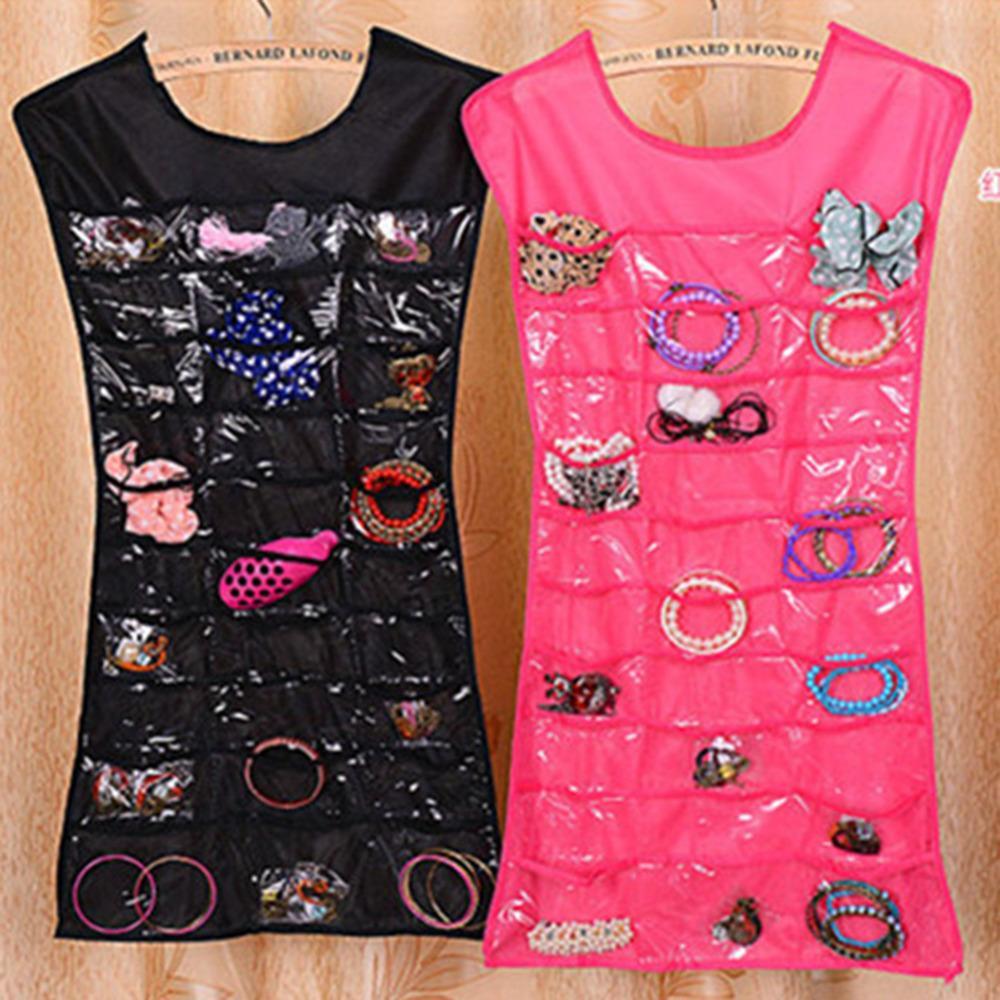 New Design Clothes Shape Storage Bag Clothes Jewelry Storage Transparent Bag Room Ornament Hanging Bag(China (Mainland))
