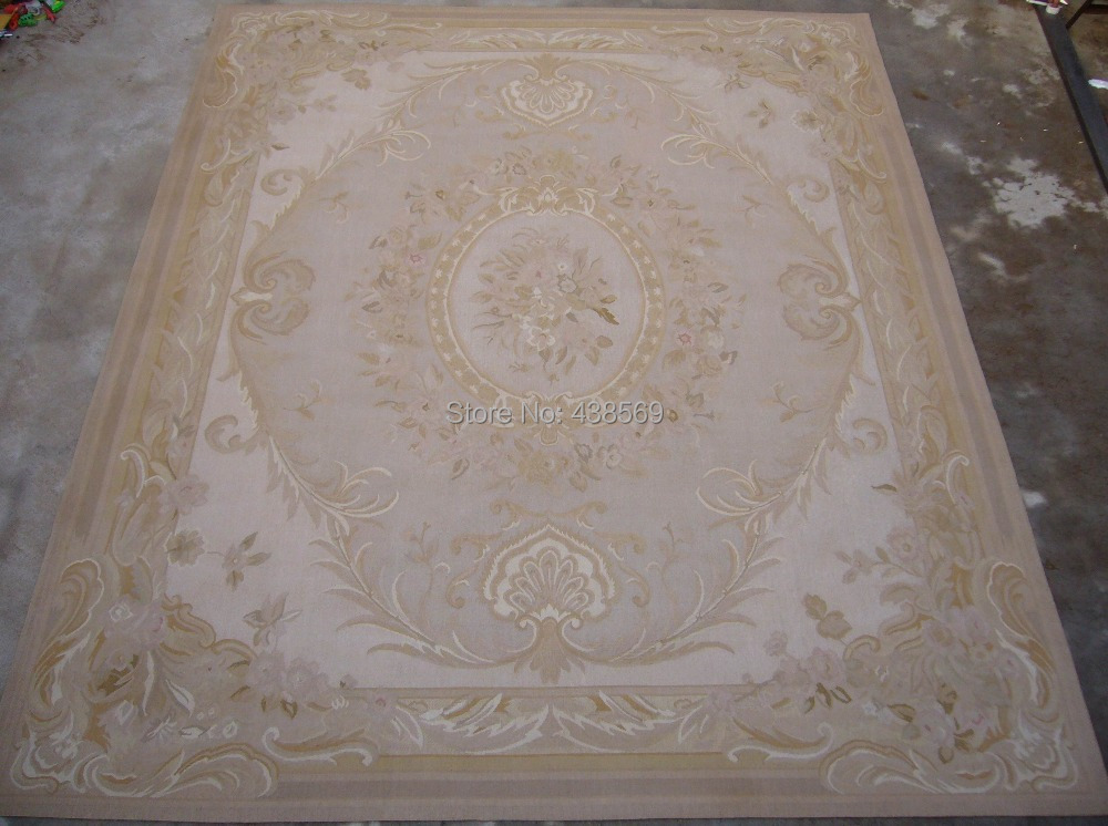 Free shipping 12'x18' Big Aubusson rugs Shabby Chic carpets for living room rugs High Quality and best prices in the market(China (Mainland))