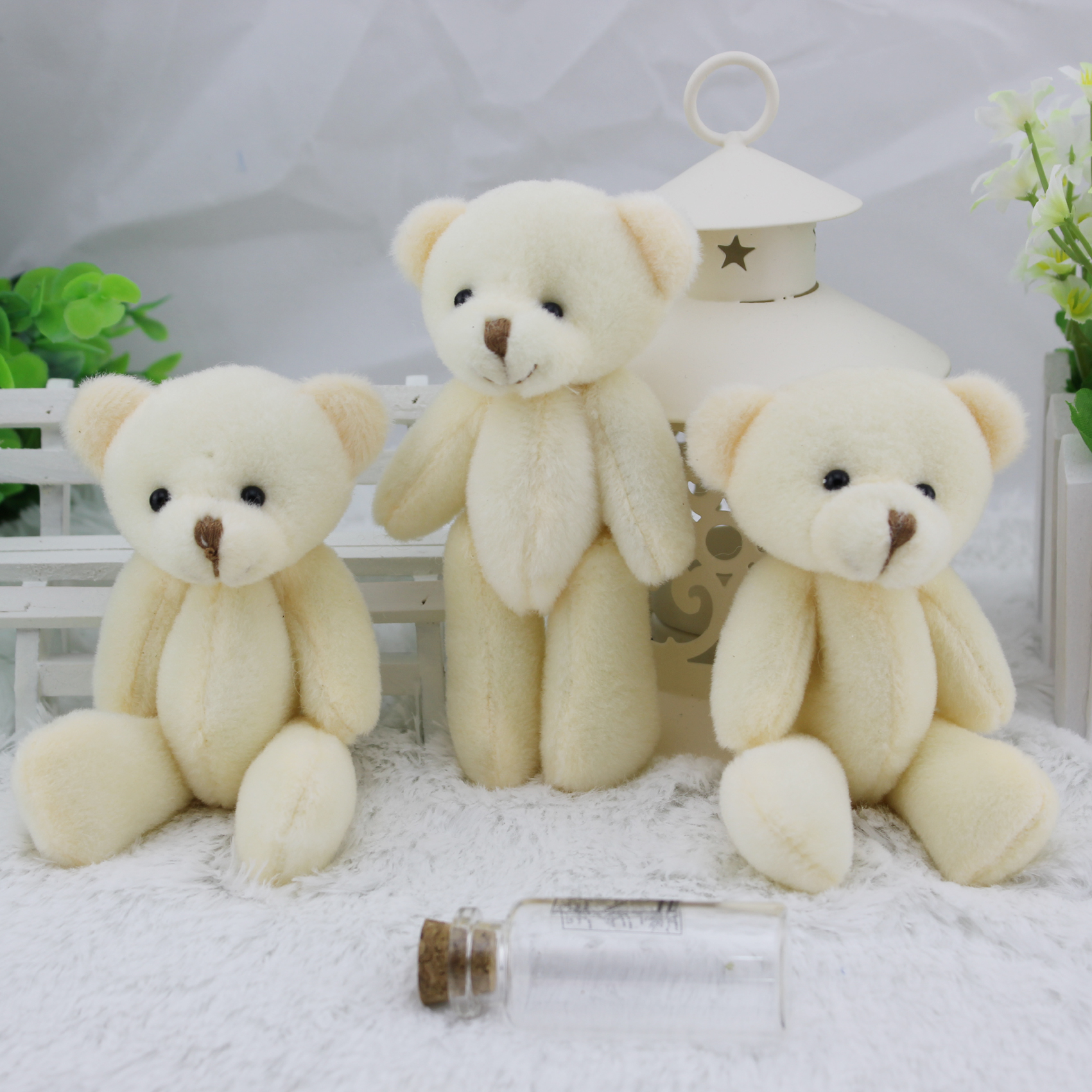 Free shipping Kawaii small Teddy bear,mini bouquet toy,12pcs/lot,12cm small bear,the best gift.<br><br>Aliexpress