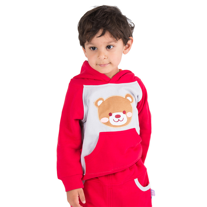 Children's 2-Piece Sets New Fashion Unisex Winter Warm Long Sleeve Sports Wear Boy and Girl 2 Pieces Cotton Casual Clothes(China (Mainland))