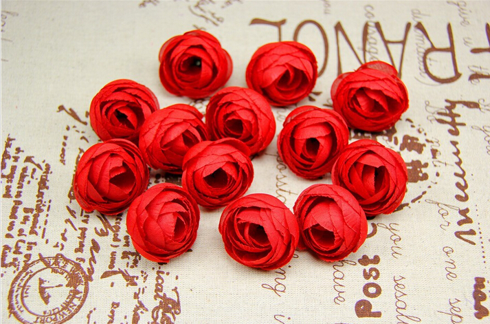 Artificial Flowers Small Tea Bud Silk Flower Roses Hand Made Head Garlands Wedding Home Decoration - KINGWAY STORE store