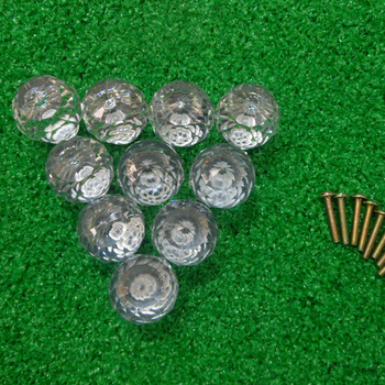 Tangpan 10 Pcs 30mm Clear Faceted Drawer Diamond Shape Crystal Cabinet Knob Cupboard Drawer Pull Handle Chest Bin  DIY Decor