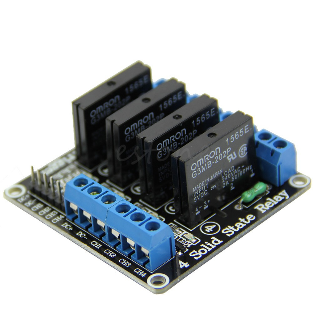 F85 Free Shipping 5V 4 Channel OMRON SSR High Level Solid State Relay Module For Arduino
